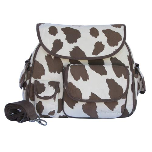 Baby Bee Bags Cow Print Diaper Bag with Detachable Pouch